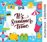 summer time paper concept.... | Shutterstock .eps vector #638690488