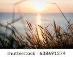 beautiful sunset above the sea... | Shutterstock . vector #638691274