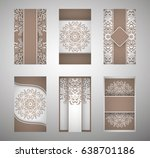 set of flyer  leaflets ... | Shutterstock .eps vector #638701186
