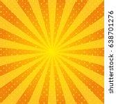 yellow rays pop art. retro... | Shutterstock .eps vector #638701276