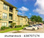 typical apartment complex... | Shutterstock . vector #638707174
