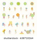 summer season is a swimming... | Shutterstock .eps vector #638710264
