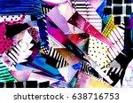 watercolor floral artwork.... | Shutterstock . vector #638716753