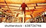 building a boat. under... | Shutterstock . vector #638726746