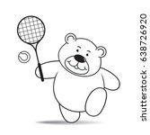 happy cartoon bear playing...   Shutterstock .eps vector #638726920