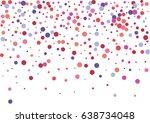 festive colorful round confetti ... | Shutterstock .eps vector #638734048