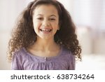 smiling hispanic girl | Shutterstock . vector #638734264