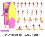 summer holiday. people in the... | Shutterstock .eps vector #638741854