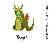a cartoon dragon. chinese... | Shutterstock .eps vector #638746300