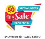 big sale discount up to 50   ... | Shutterstock .eps vector #638753590