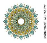 color floral mandala  vector... | Shutterstock .eps vector #638755699