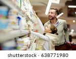 happy family grocery shopping... | Shutterstock . vector #638771980