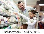 family grocery shopping in... | Shutterstock . vector #638772013