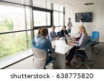 group of business people... | Shutterstock . vector #638775820
