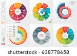 collection of 6 vector circle... | Shutterstock .eps vector #638778658