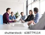 group of business people... | Shutterstock . vector #638779114