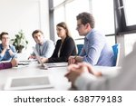 group of business people... | Shutterstock . vector #638779183