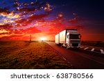 truck on a highway | Shutterstock . vector #638780566