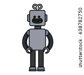 electric robot toy isolated icon | Shutterstock .eps vector #638782750