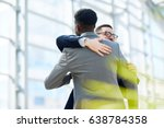 portrait of two business... | Shutterstock . vector #638784358