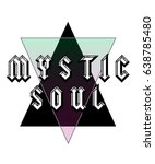 mystic soul text with foil and... | Shutterstock .eps vector #638785480