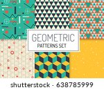 geometric patterns. simple... | Shutterstock .eps vector #638785999