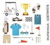 icons of equipment for playing... | Shutterstock .eps vector #638789578