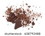 pile chopped  milled chocolate... | Shutterstock . vector #638792488
