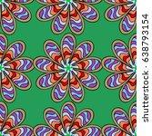 trendy seamless floral pattern. ... | Shutterstock .eps vector #638793154