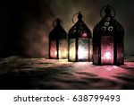 eid lamps or lanterns for... | Shutterstock . vector #638799493