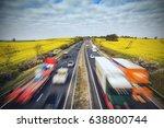 Traffic On British Motorway...