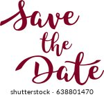 save the date | Shutterstock .eps vector #638801470