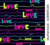 abstract seamless love pattern. ... | Shutterstock .eps vector #638804164
