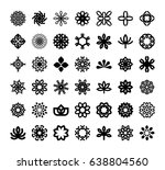 abstract flowers symbol icon set | Shutterstock .eps vector #638804560