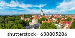 aerial view of tallinn old town ... | Shutterstock . vector #638805286