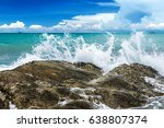 Splash Water Of Sea Wave Attac...