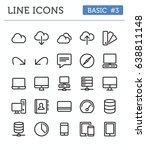 vector line icons for... | Shutterstock .eps vector #638811148