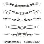 hand drawn black vector... | Shutterstock .eps vector #638813530