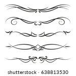 hand drawn black vector... | Shutterstock .eps vector #638813530