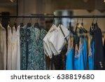 elegant women clothes in a... | Shutterstock . vector #638819680