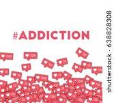 addiction. social media icons... | Shutterstock .eps vector #638828308