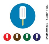 ice cream icon. colorful. flat... | Shutterstock .eps vector #638847403