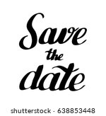 save the date | Shutterstock .eps vector #638853448