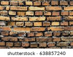 the old brick wall texture... | Shutterstock . vector #638857240