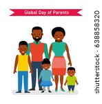 global day of parents. happy... | Shutterstock .eps vector #638858320
