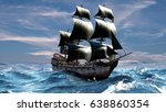 a beautiful sailboat in the... | Shutterstock . vector #638860354