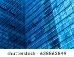 abstract building. blue glass... | Shutterstock . vector #638863849