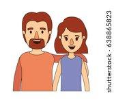 color image caricature half... | Shutterstock .eps vector #638865823