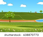 illustration of tea plantation... | Shutterstock . vector #638870773