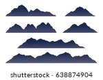mountains silhouette. isolated... | Shutterstock .eps vector #638874904